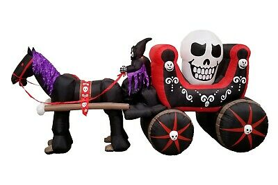 $ CDN186.83 • Buy 12 Foot Halloween Inflatable Air Blown Blowup Decoration Skeleton Ghost Carriage