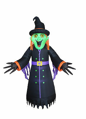 $ CDN86.52 • Buy 8 Foot Halloween Inflatable LED Lights Air Blown Yard Decoration Witch Monster