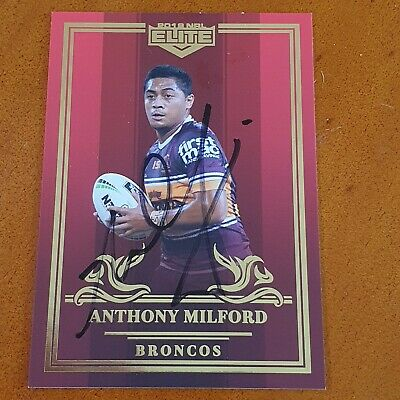 AU29.99 • Buy Signed Anthony Milford 2019 Broncos Elite Master Set Red Mojo Card