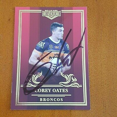 AU29.99 • Buy Signed Corey Oats 2019 Broncos Elite Master Set Red Mojo Card