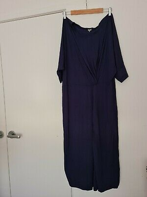 AU25 • Buy ASOS Curve Size UK 26 Navy Blue Jersey Dress