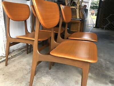 AU490 • Buy Retro Mid Century Vintage Chairs X 4
