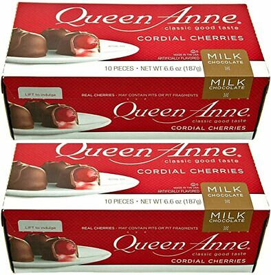$14.99 • Buy LOT OF 2 BOX Queen Anne Cordial Cherries Milk Chocolate-covered 20 Pieces 13.2oz