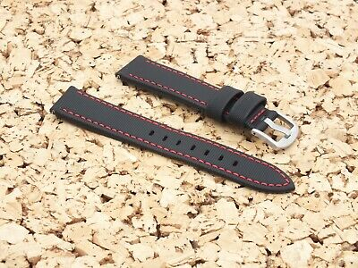 Black Waterproof Sailcloth Quick Release Watch Strap 20mm By Zuludiver • 4.20£