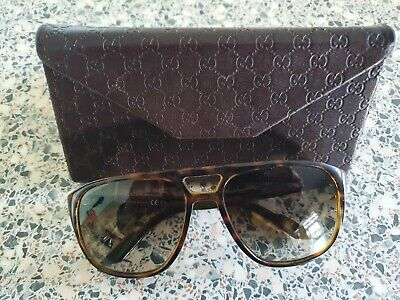 AU73.35 • Buy Gucci Brown Tortoiseshell Sunglasses. GG1018/S 791CC. With Case.