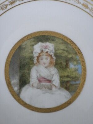 Minton Hand-Painted Cabinet Plate Portrait Of Penelope Boothby By Amy E Black    • 144£