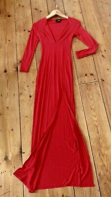 AU15 • Buy ASOS Red Long Sleeved Maxi Dress - Size 6-8