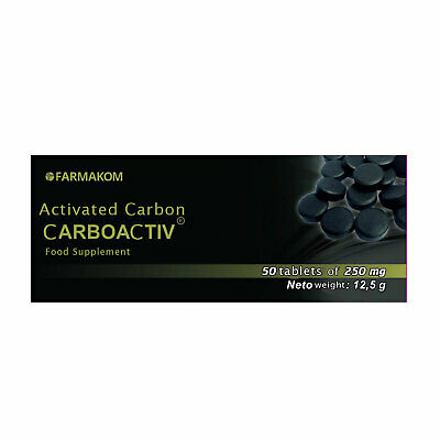 £3.95 • Buy Activated Charcoal Activated Carbon Carboaktiv 250 Mg 50 Tablets
