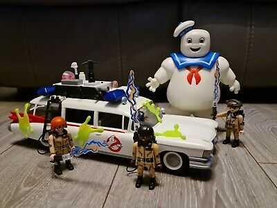 Playmobil Ghostbusters Ecto-1 Car (9220) & Stay Puft Marshmallow Man (9221) • 6.50£