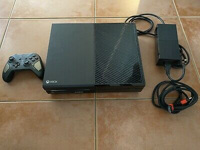 AU72 • Buy Microsoft Xbox One 1TB Black (Model 1540) With Cables And Controller