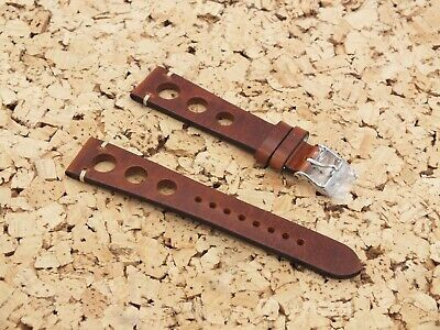 Genuine Leather Racing Drivers Watch Strap 20mm Nut Brown / By Geckota • 9.28£