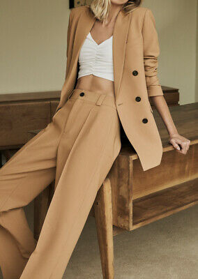 £55 • Buy Zara Double Breasted Blazer Camel Brown BNWT Size L Rrp £69 Bloggers Favourite