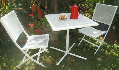 AU49.99 • Buy 3 PIECE OUTDOOR METAL DINING SETTING W CUSHIONS.  Ringwood Nth, Vic.