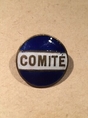 £9.99 • Buy Vintage French Comité Committee Lapel Badge 1930s Blue Enamel