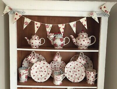 £12 • Buy Emma Bridgewater Themed Bunting - 10 Flags - Rose & Bee And Pink Hearts