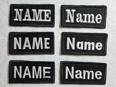 £3.50 • Buy 4x8 Cm Personalised Embroidery Name Tag TEXT Custom Patch Sew On  Hook And Loop