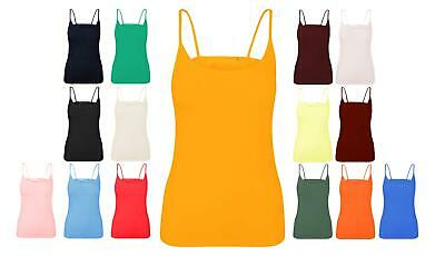 £3.99 • Buy Ladies Plain Organic Cotton Summer Stretch Tank Top Vest