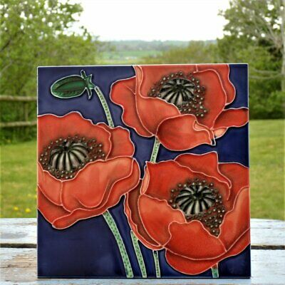 £9.99 • Buy Tile Poppy Flower Picture Wall Plaque