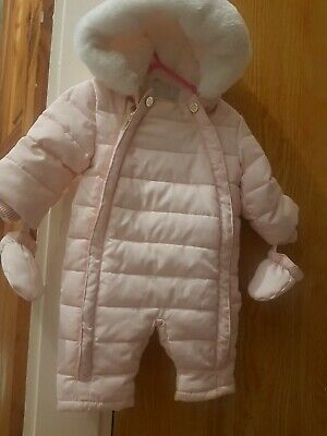 £14.99 • Buy 💗Baby Girls River Island Pink Snowsuit 0-3months  Barely Worn💓
