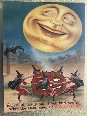 $ CDN3.57 • Buy Postcard Unused Halloween- What The Moon Saw On Halloween Reproduction