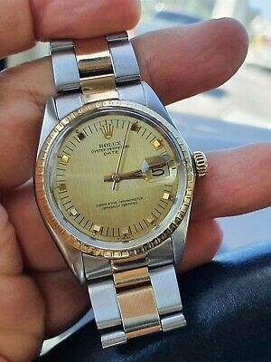 AU2608.02 • Buy ROLEX DATE Oyster Perpetual 34 Mm Model 1505 - Two Tone - Beautiful And Working