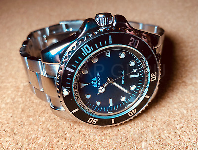 £47.50 • Buy Black Automatic Auto Movement Sea Homage Dweller Steel Watch Submariner Steel