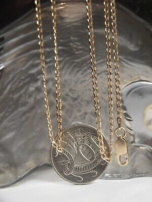 AU170.78 • Buy Genuine 375 Yellow Gold Concave Link Necklace