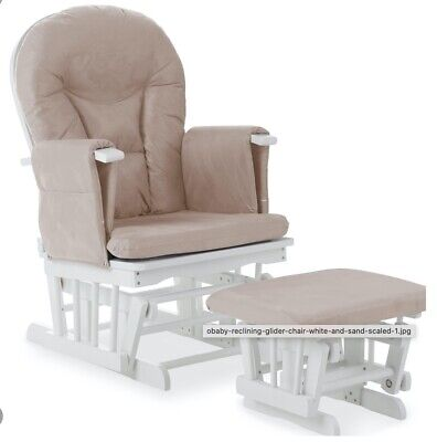White Maternity Rocking Chair With Stool  • 0.99£