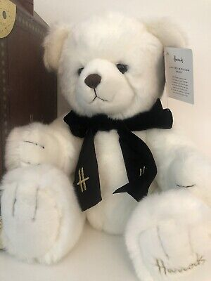 Harrods Limited Edition Teddy Bear James NEW £75 Gift Boxed White Large • 18£