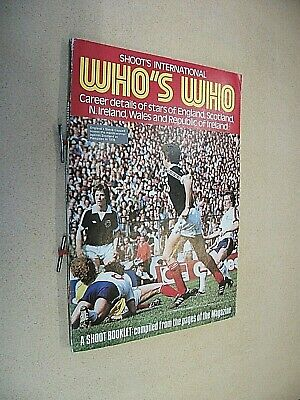 £6 • Buy  Who's Who  Football Booklet From Shoot Magazine 1978