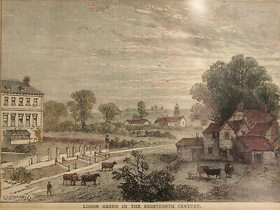 £15 • Buy Hand Coloured C19th Engraving, 'Lisson Green In The 18th Century', London