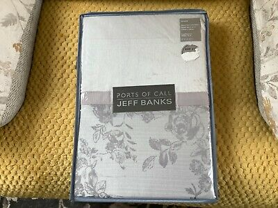 £18 • Buy Ports Of Call Jeff Banks Sketch Rose Jacquard Single Bed Set New In Packet.