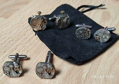 New Three Sets Of Cufflinks Including Steampunk/mechanical • 9.99£