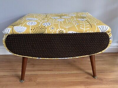 £195 • Buy Mid Century Sewing Stool Atomic Style Referbished In Orla Kiely Fabric