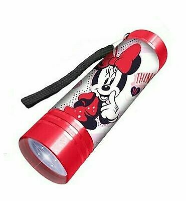 £8.99 • Buy Licensed Disney Character Minnie Mouse Flash Light Red LED Torch Xmas Gift 3+Y