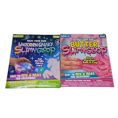 AU24.12 • Buy Make Your Own Slime Kits 2 Box Lot Butter Slimegoop & Unicorn Glitter