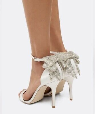 AU54.50 • Buy Forever New Ella Jewelled Bow Back Heels - Size 9 - RRP $109.99!