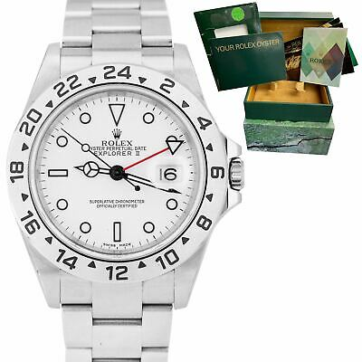 $ CDN11603.92 • Buy 2005 UNPOLISHED Rolex Explorer II Polar White No Holes 40mm GMT 16570 Date Watch