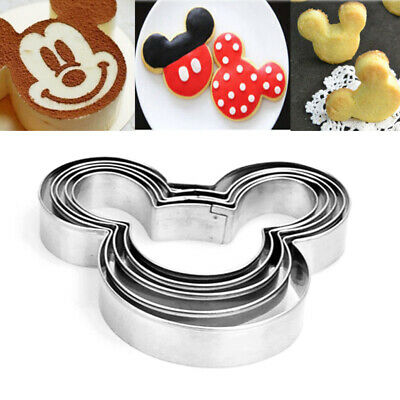 5Pcs Mickey Mouse Biscuit Cutter Mould Cake Cookies Pastry Mold Baking Tools • 0.90£