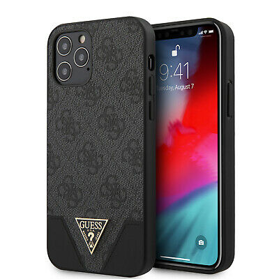 £25.59 • Buy GUESS IPhone 12 / 12 Pro Hülle 4G Triangl Collection Logo Case Cover Grau