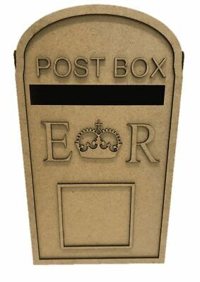 £8.95 • Buy Wooden Wedding Post Box, Royal Mail For Cards Letters Gifts S279