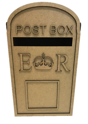 £39.95 • Buy Wedding XXL PERSONALISED Wooden Post Box, Royal Mail  Cards Letters  S279