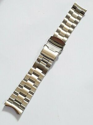 $ CDN47.47 • Buy 22mm Sliver Brushed Stainless Steel Wrist Watch Band Replacement Bracelet SKX007