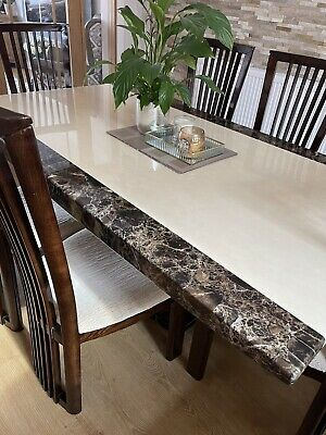 £500 • Buy Marble Dining Table And 6 Chairs