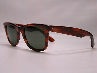 AU42.50 • Buy Vintage Ray Ban Wayfarer BL Tortoise Sunglasses Shades Made In USA CLEAN