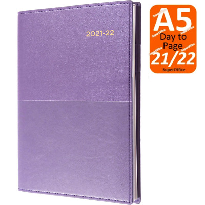AU27.95 • Buy Collins Vanessa A5 Day To Page 2021-2022 Diary Purple Financial Year FY DTP