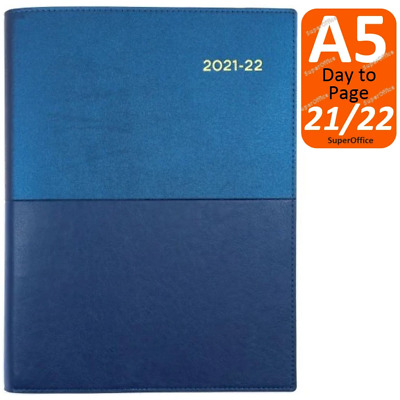 AU27.95 • Buy Collins Vanessa A5 Day To Page 2021-2022 Diary Blue Financial Year FY DTP