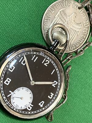 WW2 German Aircraft Personal Pocket Watch FWO Nice Item With Chain And Fob • 199.99£