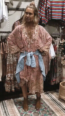 AU129 • Buy Bella Boheme Flamingo Spell Gypset Midi Dress Size S BNWOT