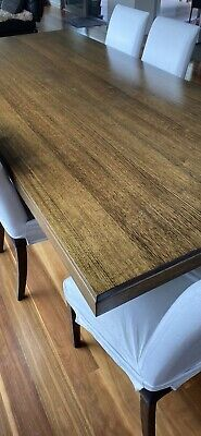 AU1500 • Buy ADRIACTIC Solid Messmate Timber Dining Table And 8 Matching Fabric Padded Chairs